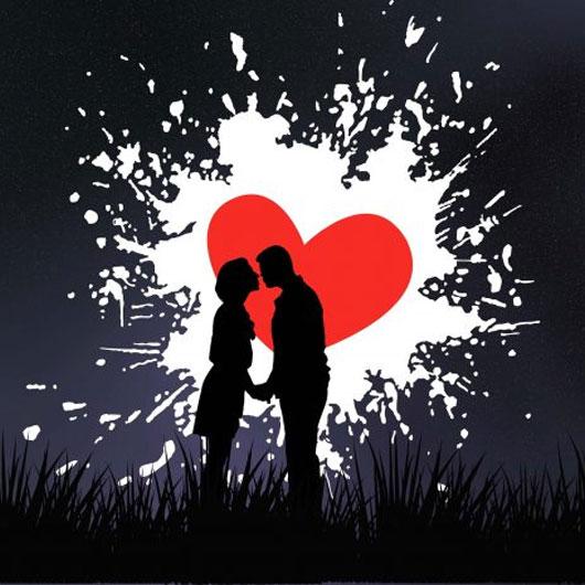 Sweethearts Kissing